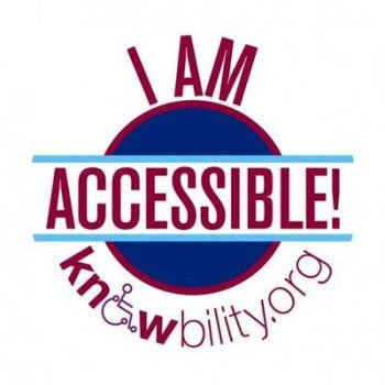 The I am accessible Knowbility badge with the URL knowbility.org