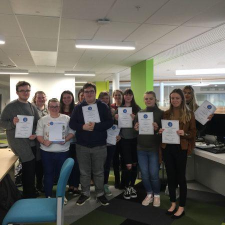 Students from Coleg Y Cymoedd BOOST programme