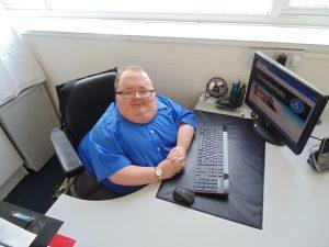 Principal Consultant Richard Jones working in Accessible Wales before lockdown