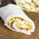 wrap with cheese and meat