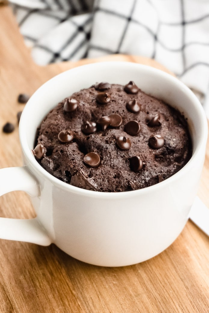 Chocolate Mug Cake Visual Recipe