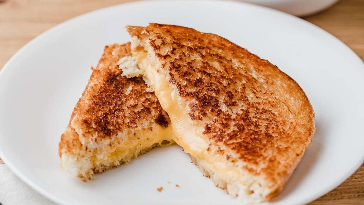 photo of cheese toastie