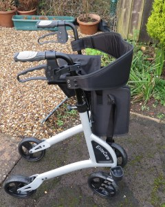 Lightweight rollator assembled
