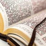 Photograph of an open holy bible