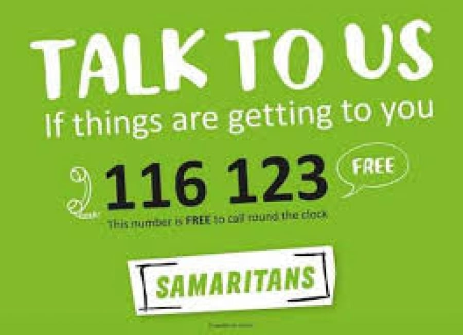 Talk to us things are getting to you 116123 Samaritans