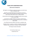 Travel info assistance dogs