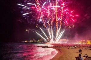 focs de Sant Joan a Platja d'Aro catalonia spain