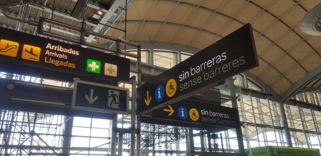 Alicante airport Spain
