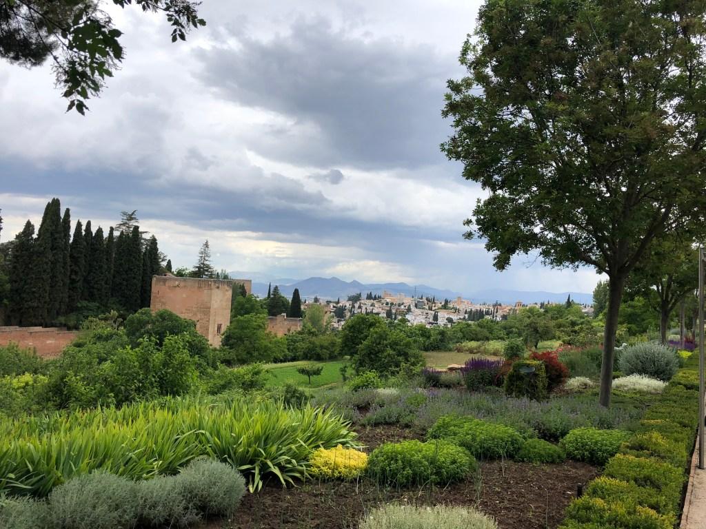 view granada from generalife gardens spain