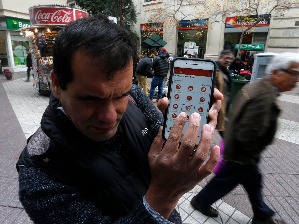 Lazarillo app in Chile