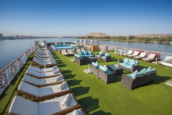 sundeck cruiseship Egypt
