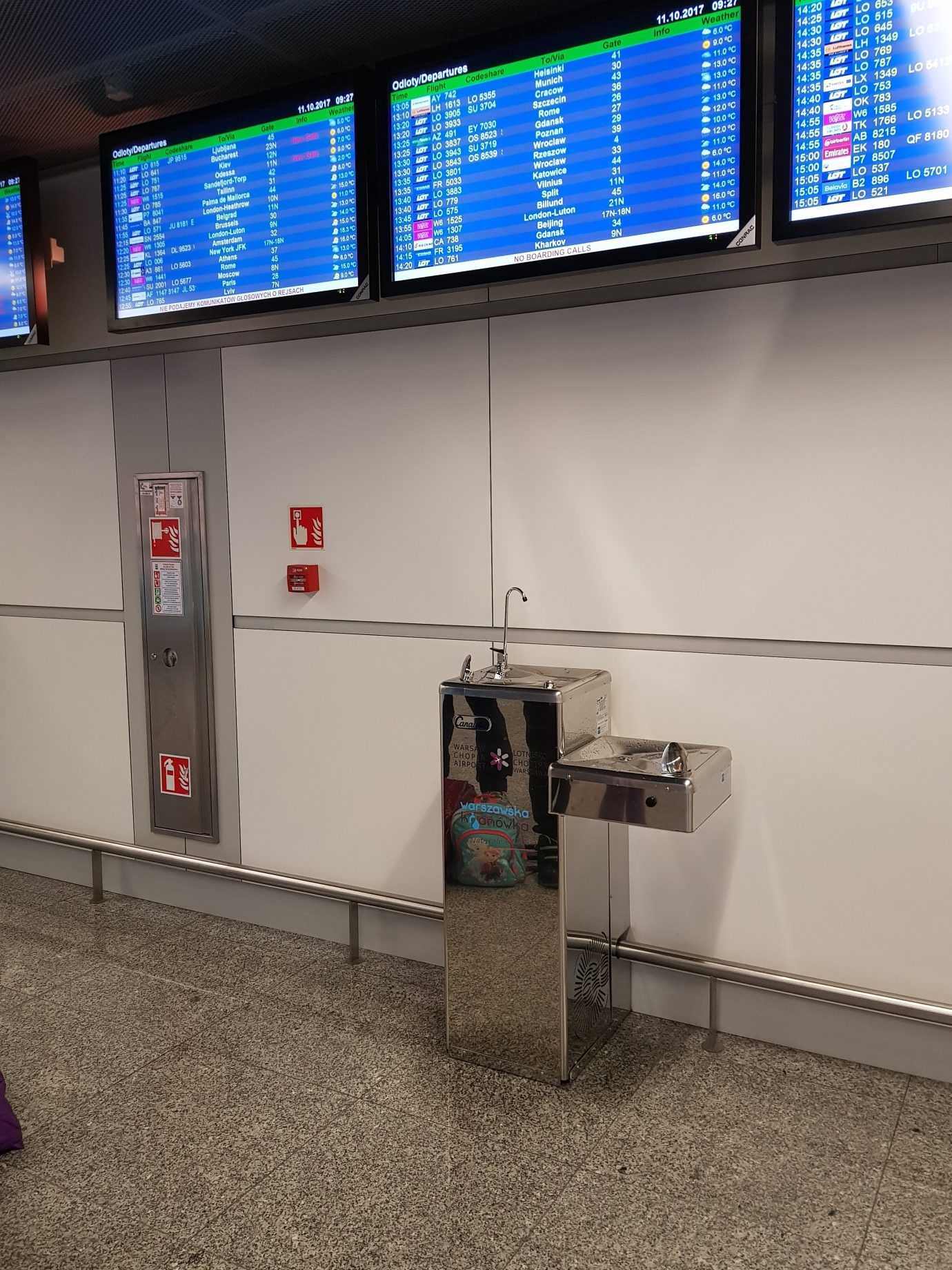 accessible water tap chopin airport poland