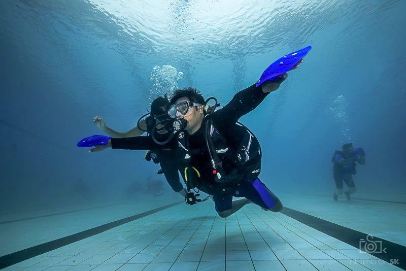 rahul scuba diving