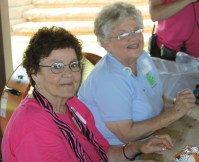 Anne Linville and Pat Moody   Queens of Clovis (Volunteer)