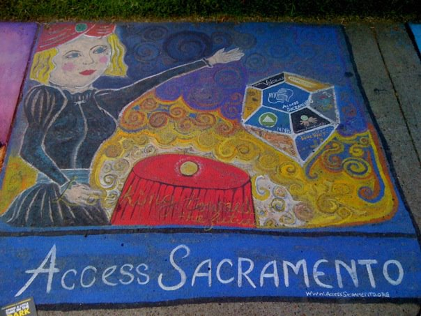 Artwork by Miss BB for Chalk It Up! 2011
