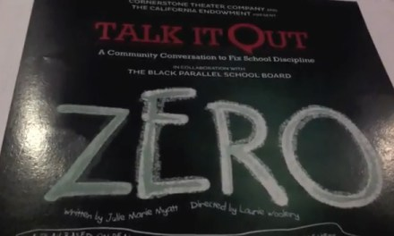 "Talk it Out: A Community Conversation to Fix School Discipline ""Zero"" video"