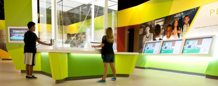 The California Museum's Health Happens Here exhibit