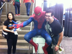 Marvel's Spiderman was busy climbing the railings at Sacramento's Wizard World Comic Con.