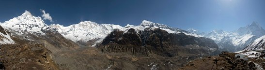 Annapurna Sanctuary panorama view