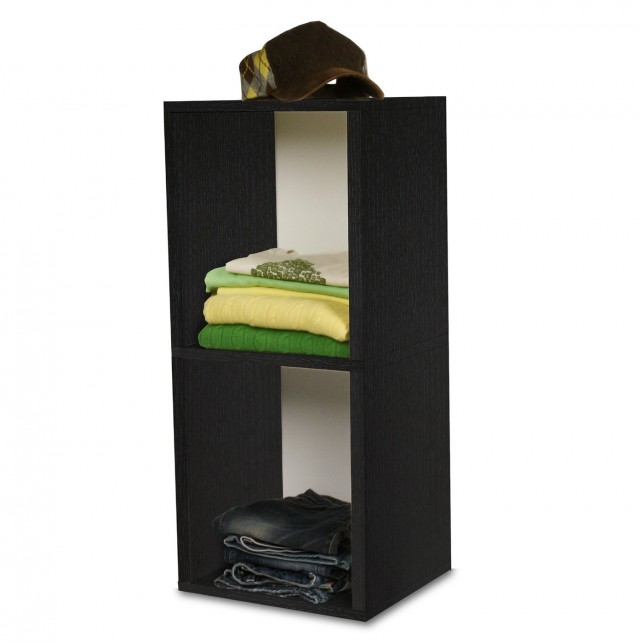 2 Shelf Bookcase Black