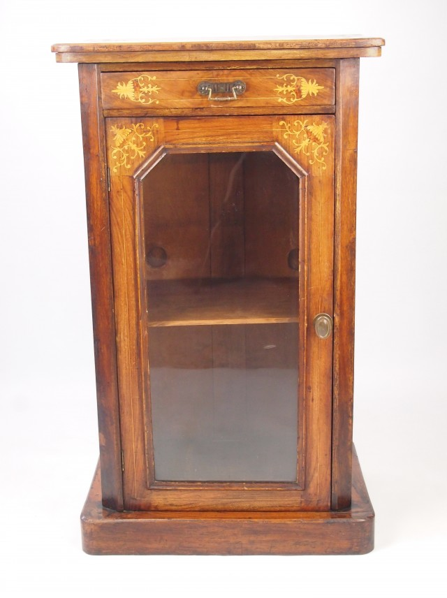 Antique Glass Front Bookcase