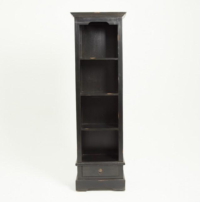 Black Bookshelf Narrow