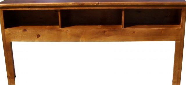 Bookcase Headboard Full Solid Wood