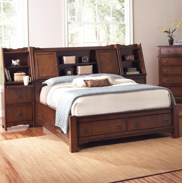 Bookcase Headboard King Bedroom Set