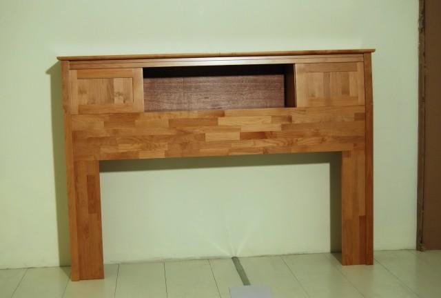 Bookcase Headboard Queen Solid Wood