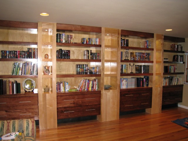 Built In Bookshelf Plans Free