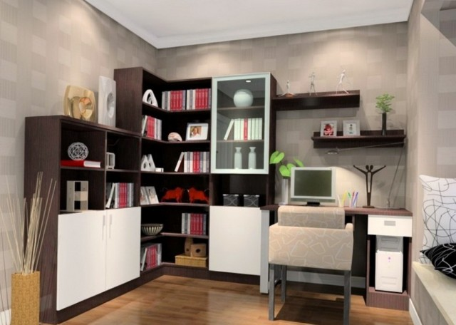 Corner Bookshelf Decorating Ideas