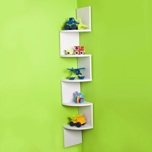 Corner Wall Bookshelf