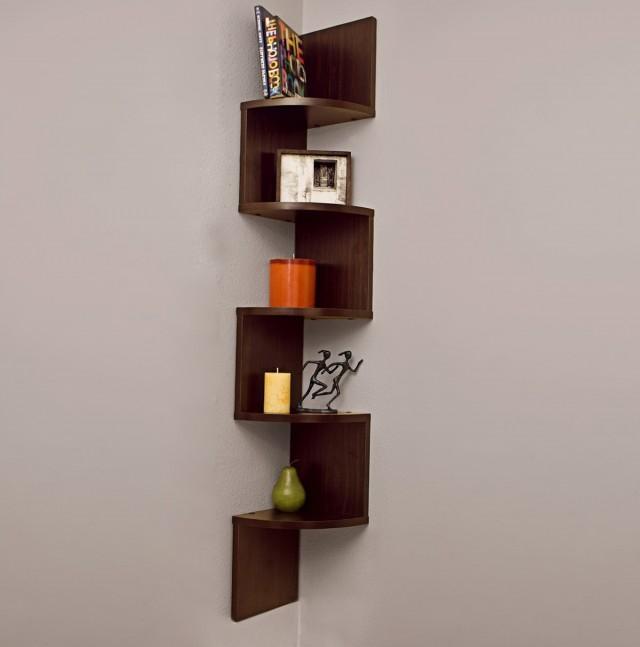 Corner Wall Mount Bookshelf