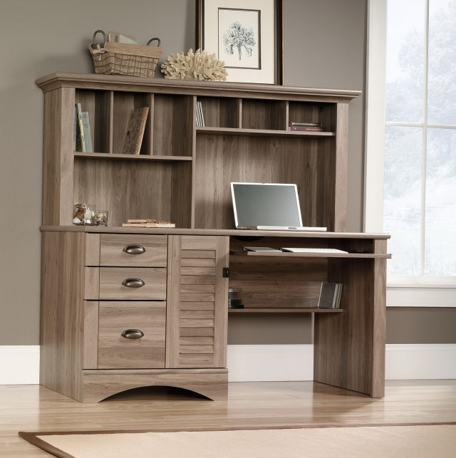 Desk With Bookshelf Hutch