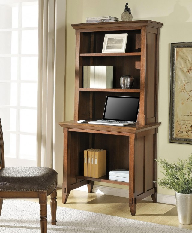 Desk With Bookshelf On Top