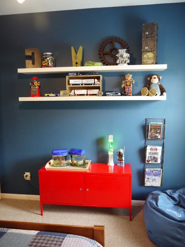 Floating Bookshelf Kids Room