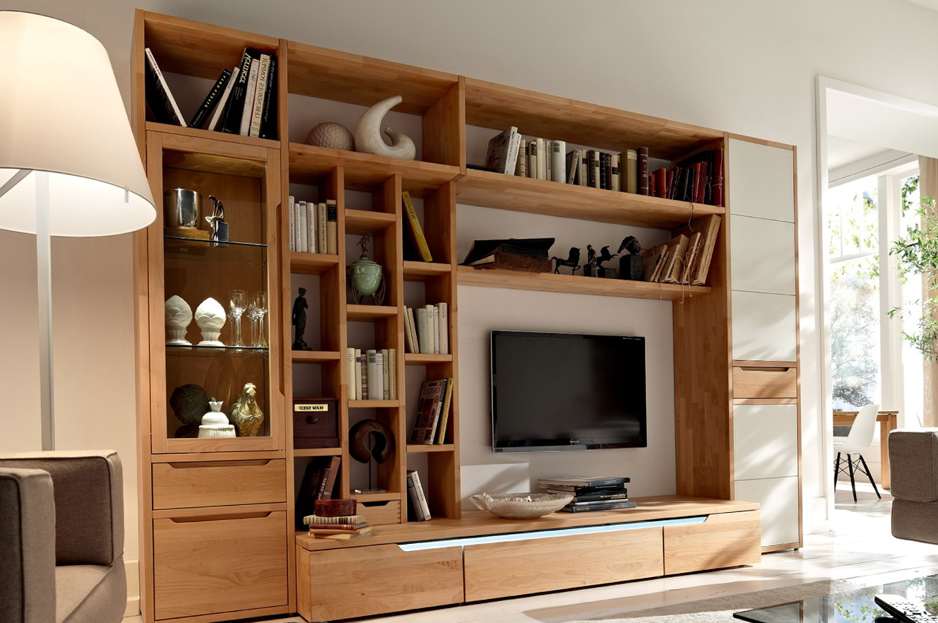 Floor To Ceiling Bookcase With Tv