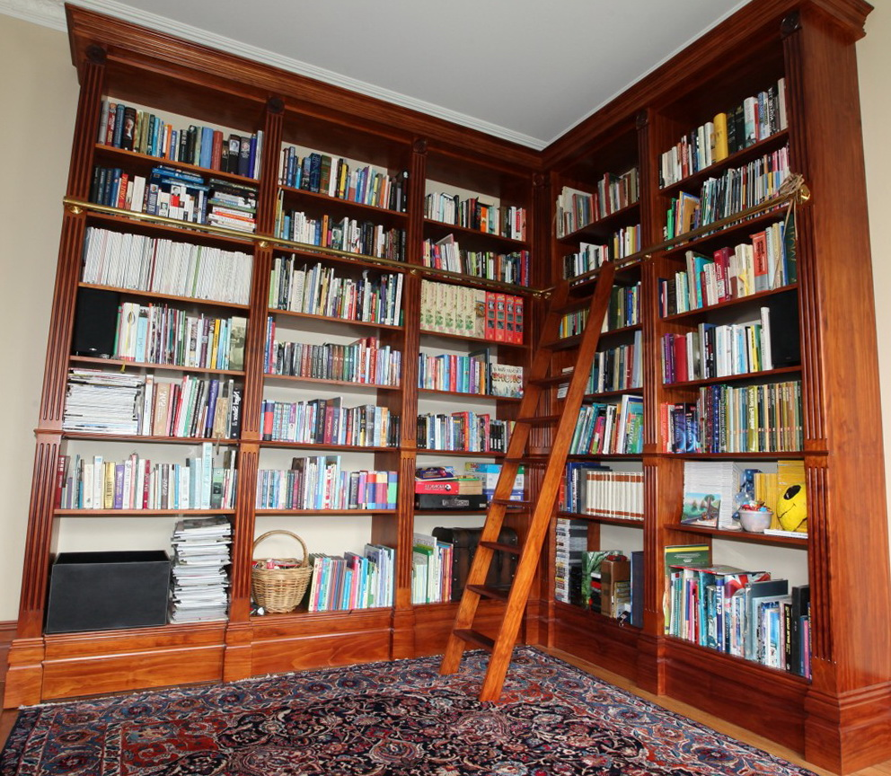 Floor To Ceiling Bookcases With Ladder