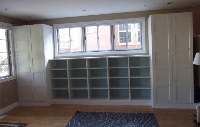 Ikea Bookshelves Built In
