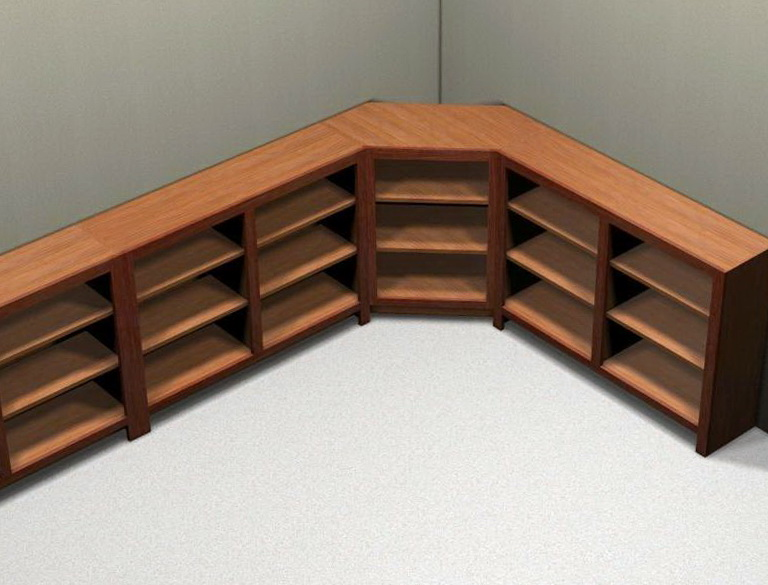 L Shaped Bookcase Plans