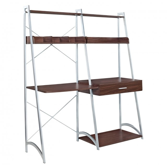 Ladder Shelf Bookcase With Desk