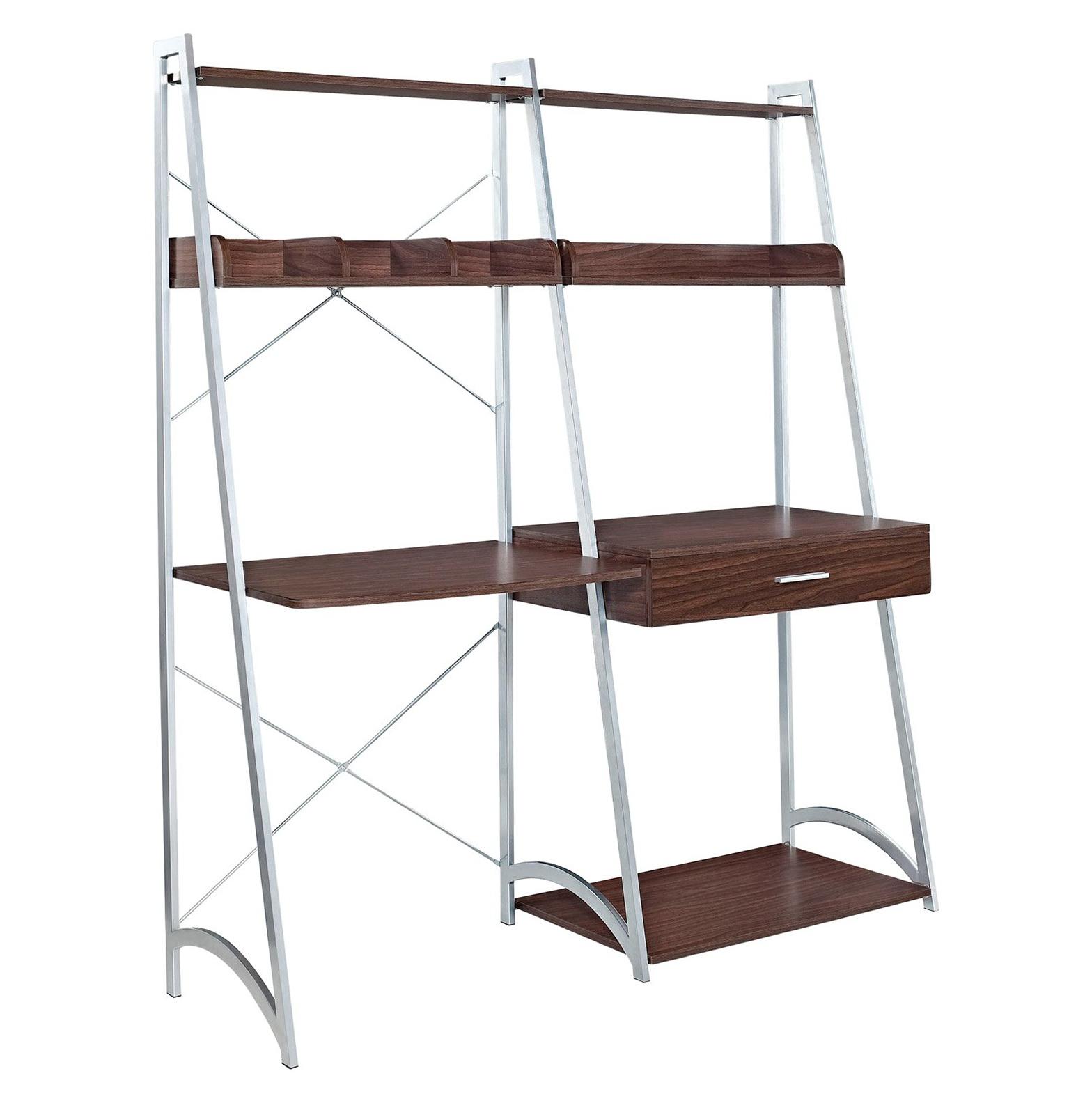 Ladder Shelf Bookcase With Desk