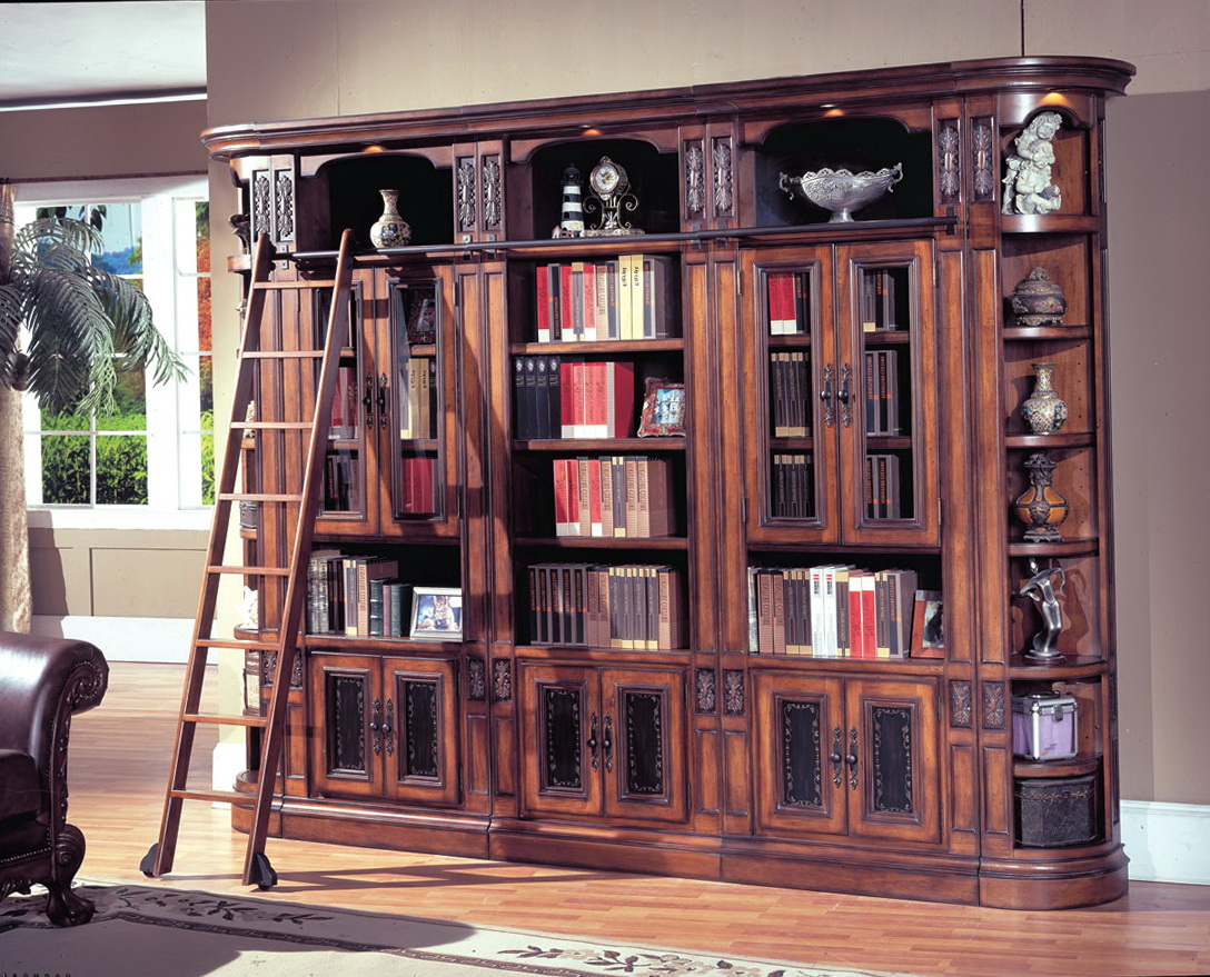Library Bookcase With Ladder