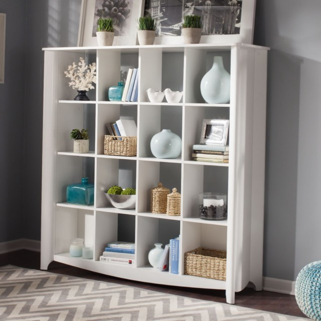Low Bookshelf Room Divider