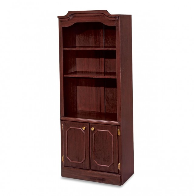 Mission Style Bookcase With Doors