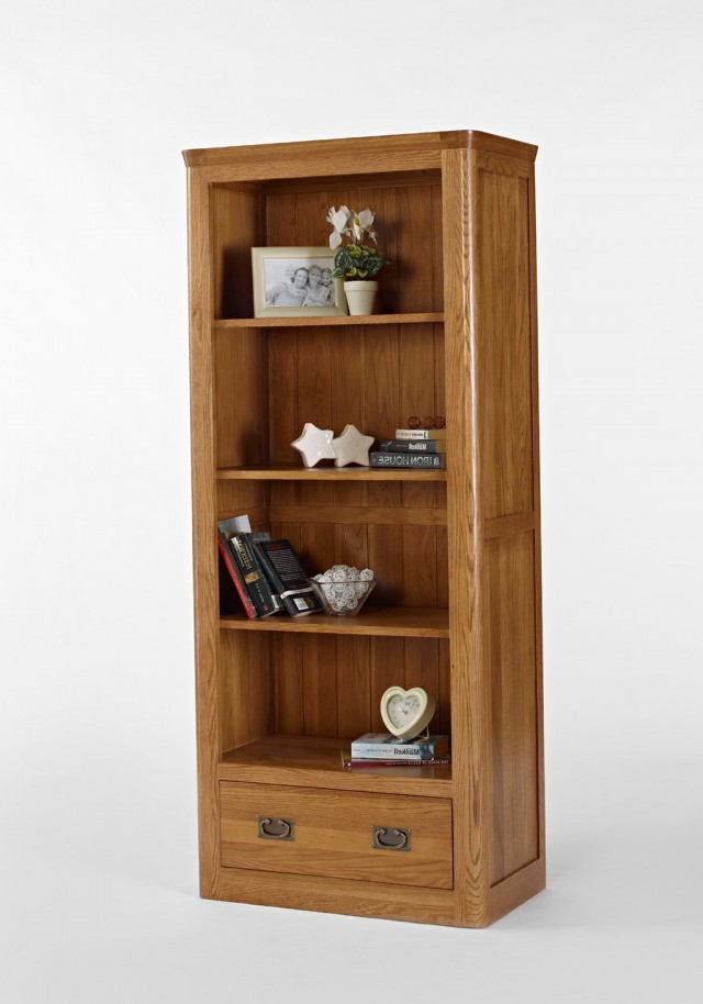 Oak Bookcase With Drawers