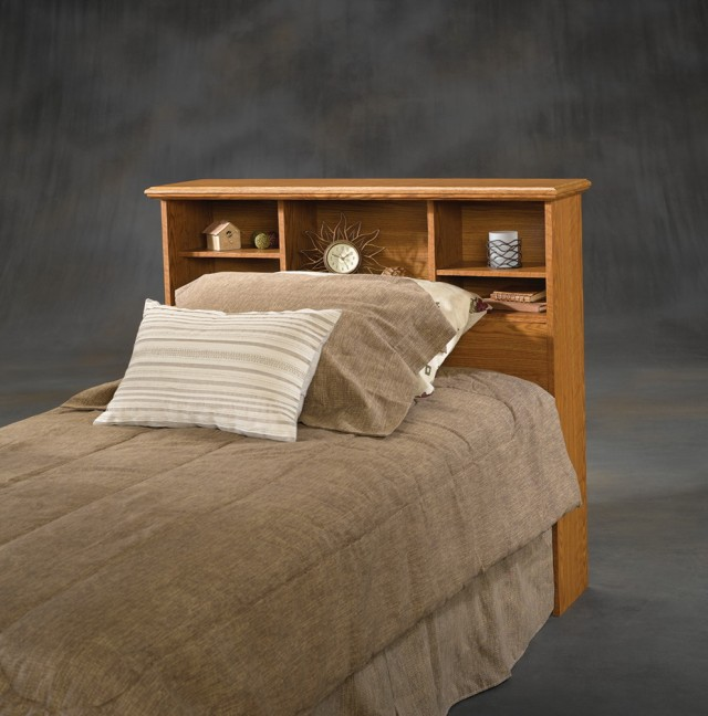 Queen Bookcase Headboard Oak
