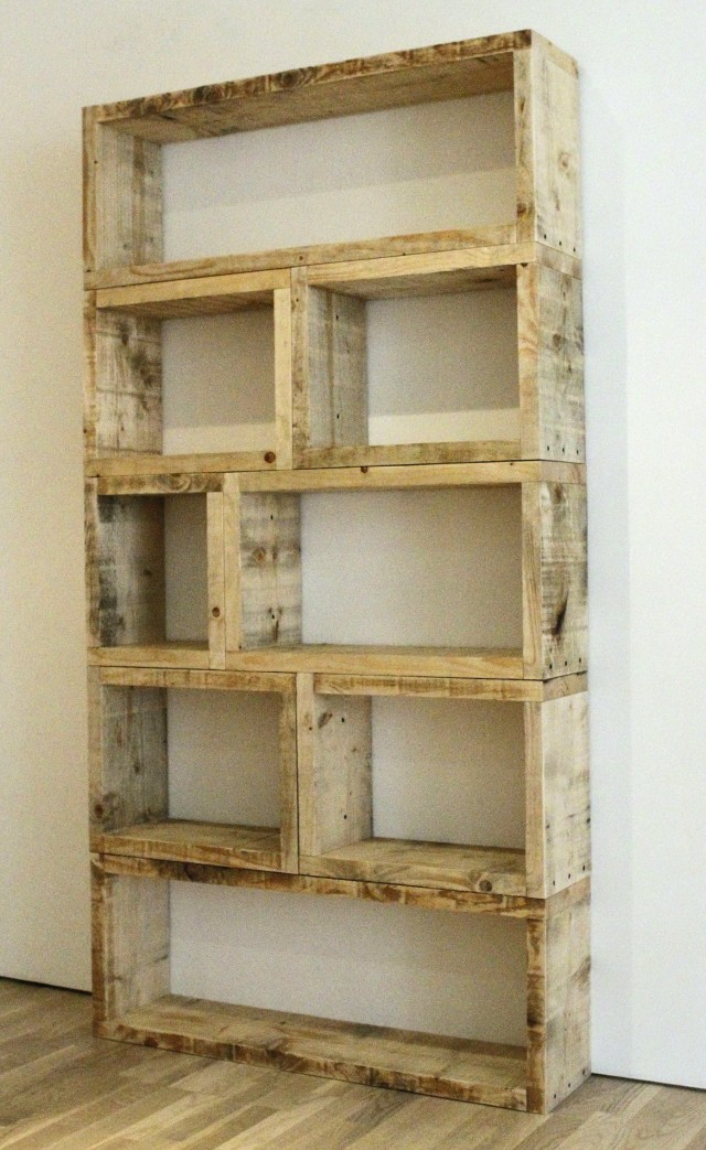 Reclaimed Wood Bookcase Plans