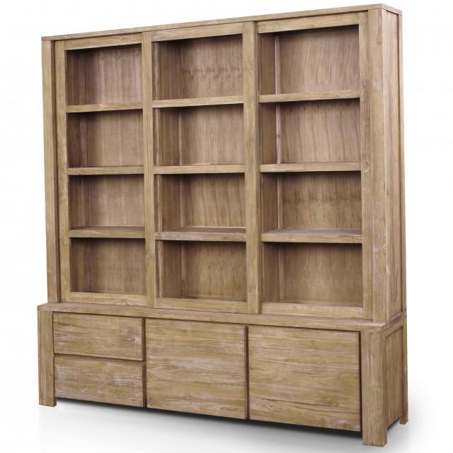 Reclaimed Wood Bookcase Shelves