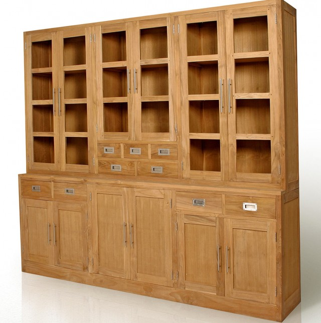 Solid Wood Bookshelves With Doors